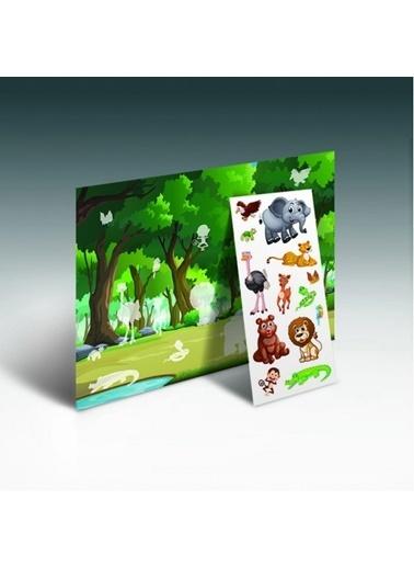 Artikel Bul Yapıştır Ormanını Oluştur Eğitici Oyun Renkli